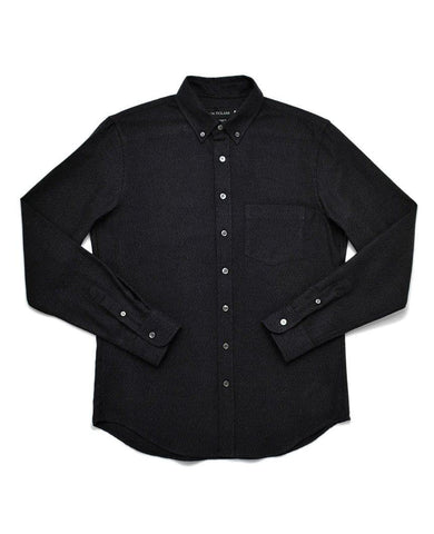 Charcoal Twill Flannel Shirt