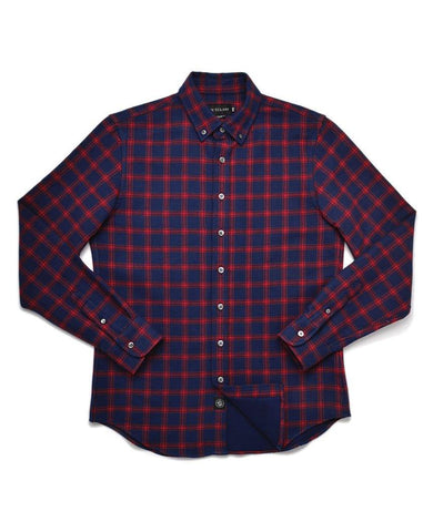 Navy Double-Sided Check Flannel