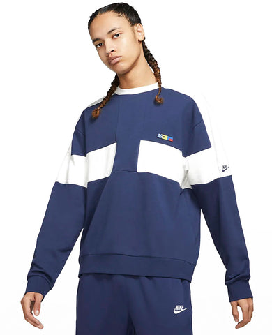 Sportswear Reissue  French Terry Crew Midnight Navy