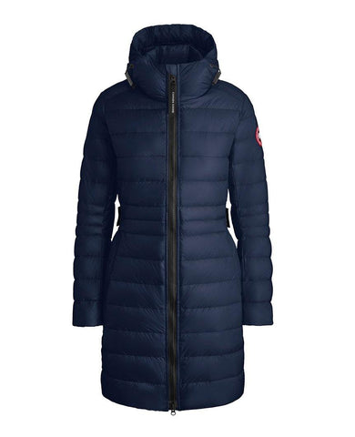 Cypress Hooded Down Jacket Atlantic Navy Womens