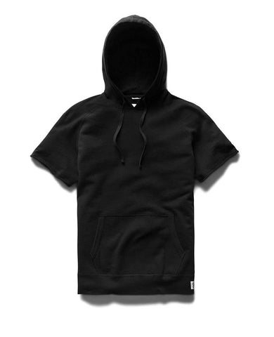 Lightweight Terry Cut-Off Hoodie Black