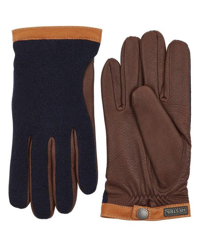 Deerskin Wool Tricot Navy Chocolate