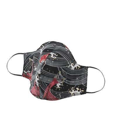 Protection Face Mask - Koi Fish Black