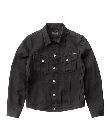 Billy Dry Denim Jacket Black