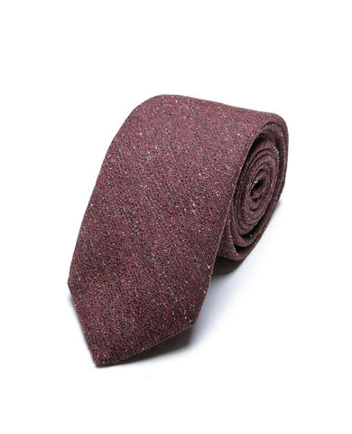 Brown Solid Tie