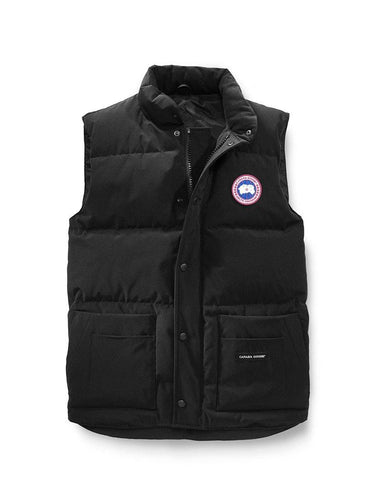 Freestyle Crew Vest Black Mens