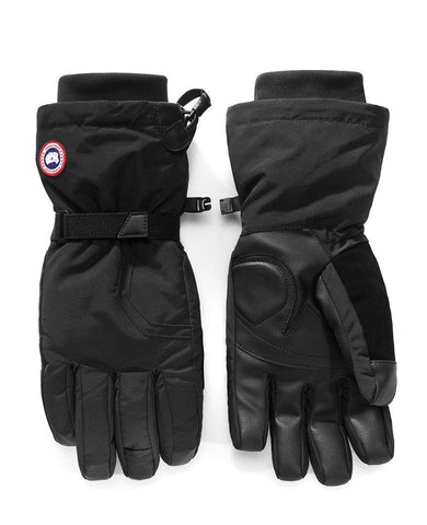 Arctic Down Black Gloves Mens