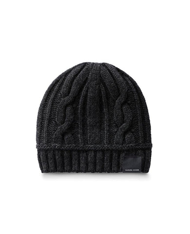 Cable Toque Womens Black