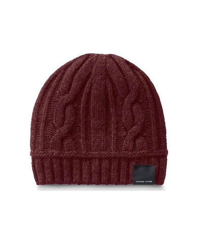 Cable Toque Womens Elderberry