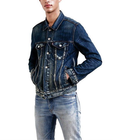 Original Trucker Denim Jacket Blue Indigo