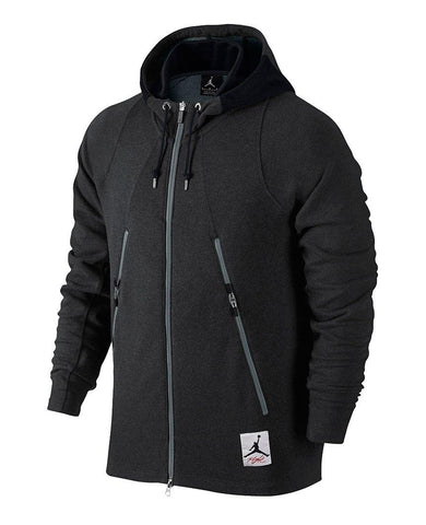 Jordan 4 Full Zip Hood Black