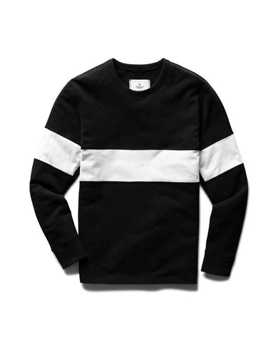 Rugby Crewneck Black White