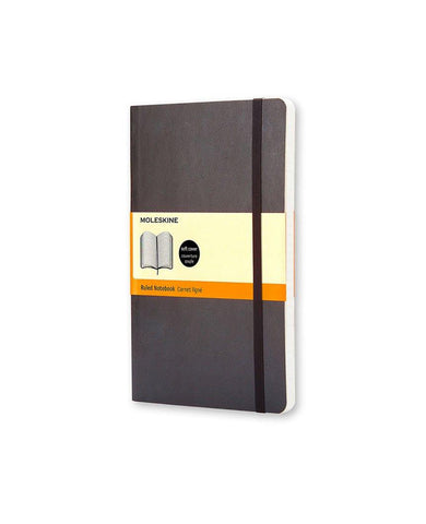 Classic Notebook Soft Cover Ruled Black