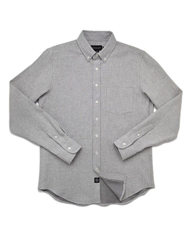 Grey Double-Sided Flannel Shirt