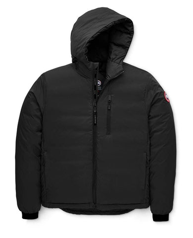 Lodge Down Hoody Matte Finish Mens Black