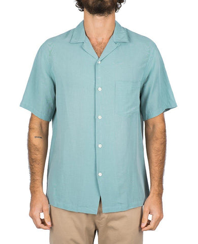 Catown Vintage Green Short Sleeve Buttondown Shirt