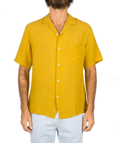 Catown Vintage Yellow Short Sleeve Buttondown Shirt