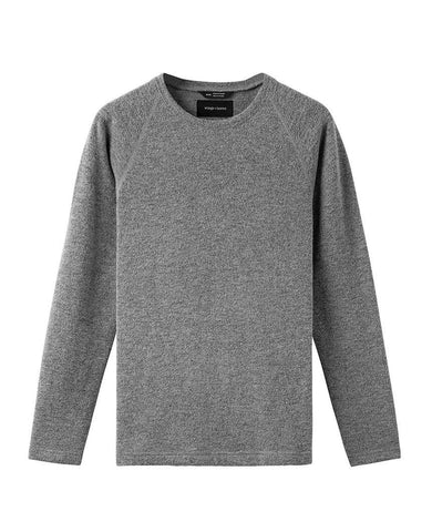 Felted Wool Crewneck Heather Grey