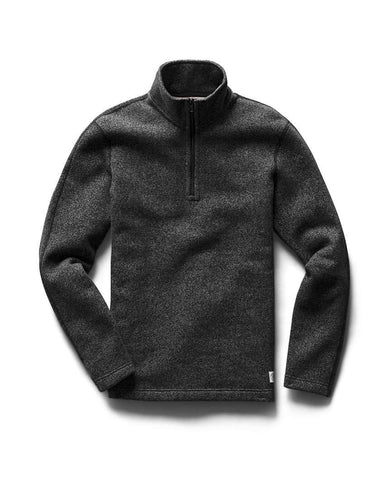Half Zip Pullover Tiger Fleece Black