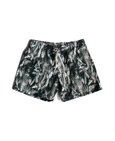 Green Tropical Forest Swim Trunk