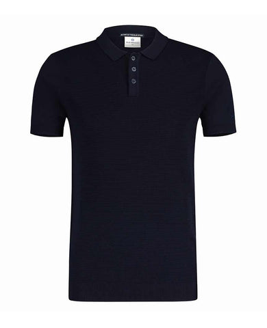 Classic Textured Polo Navy