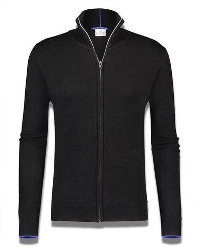 Luxe Zip Up Sweatshirt Black