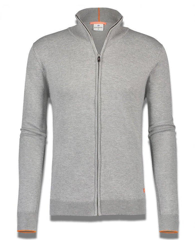 Luxe Zip Up Sweatshirt Grey