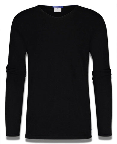 Luxe V-Neck Sweatshirt Black