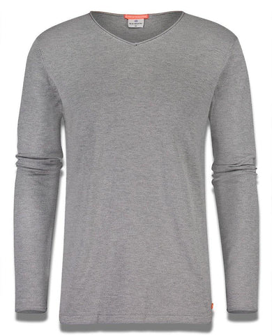 Luxe V-Neck Sweatshirt Grey