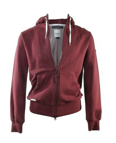 Zip Through Hoody Burgundy