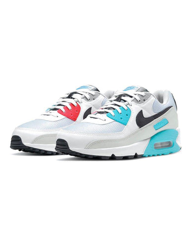 Air Max 90 White/Iron Grey-Chlorine Blue