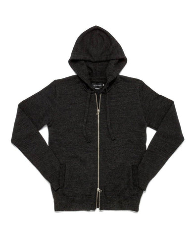 Zip-Up Hoodie Charcoal Grey
