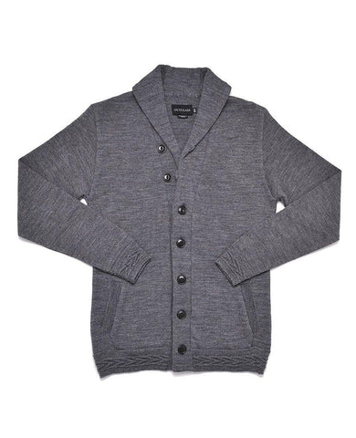 Concrete Grey Shawl Collar Cardigan