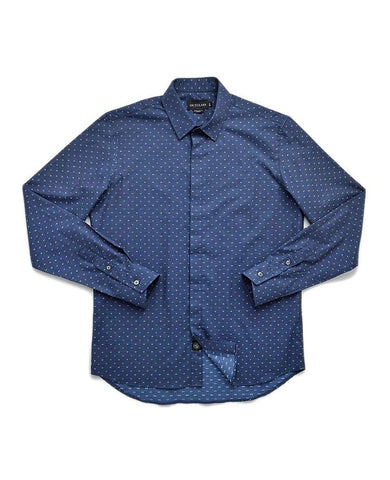 Navy Dobby Dress Shirt