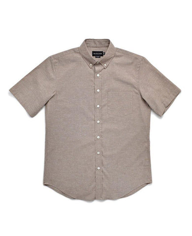Taupe Flecked S/S Shirt