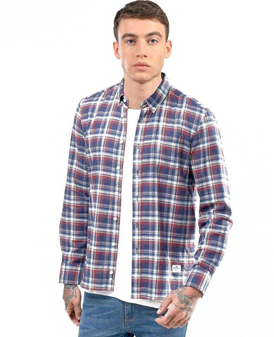 Redwater Long Sleeve Brushed Cotton Check Shirt