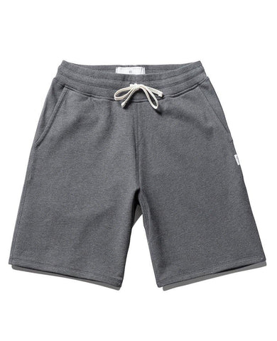 Sweatshort Midweight Terry Heather Charcoal