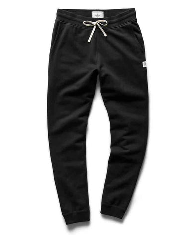 Slim Sweatpant Midweight Terry Black