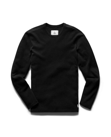 Brushed Interlock Long Sleeve Black