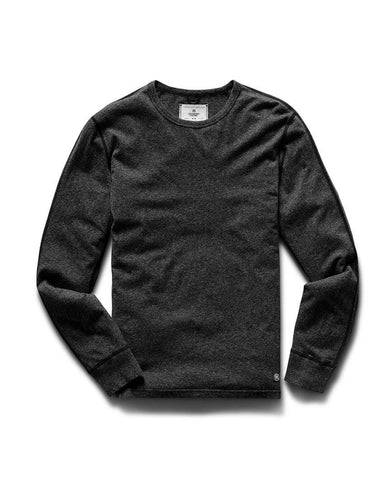 Pima Jersey T-Shirt Long Sleeve Heather Black