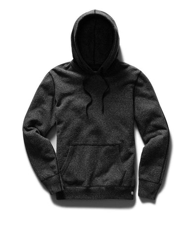 Pullover Hoodie Midweight Terry Heather Black