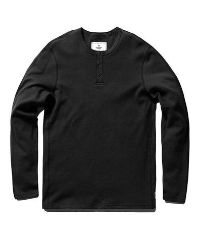 Long Sleeve Henley Ringspun Jersey Black
