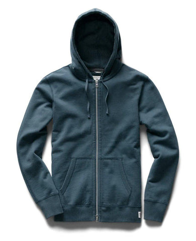 Midweight Terry Full Zip Hoodie Pacific