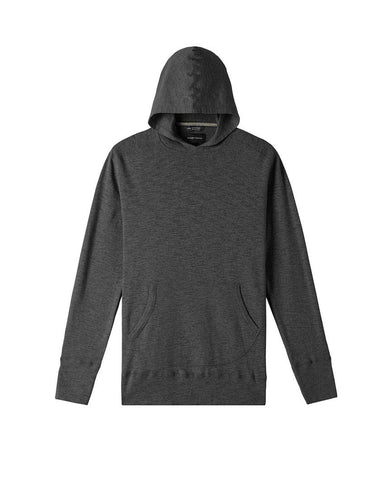 1x1 Slub Hooded Pullover Heather Charcoal