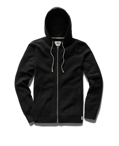 Full Zip Hoodie Midweight Terry Black