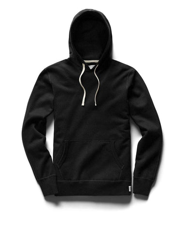 Pullover Hoodie Midweight Terry Black