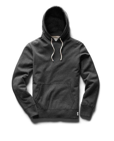 Pullover Hoodie Midweight Terry Heather Charcoal