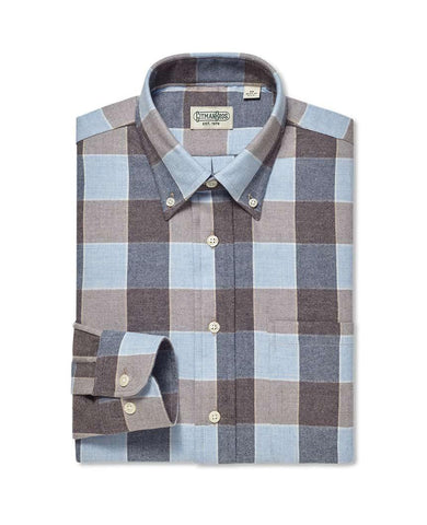 Button Down Sport Italian Brushed Buffalo Check