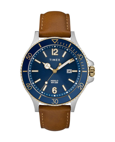 Harborside 42mm Leather Strap Watch