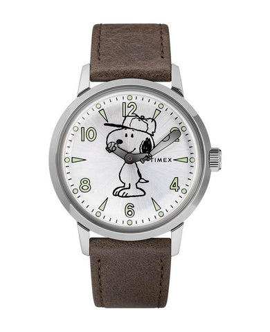 Welton Timex X Peanuts Featuring Snoopy 40mm Leather Strap Watch